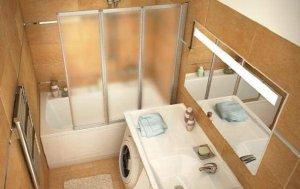 Дизайн маленькой ванны в хрущевке со стиральной машиной
