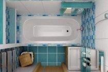 Дизайн маленькой ванной без унитаза (15 фото)