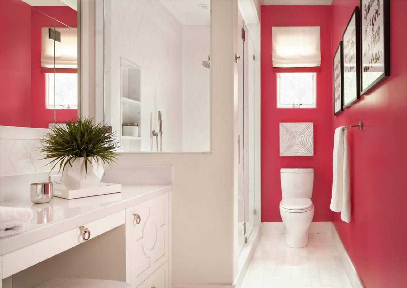 Планировка и зонирование ванной комнаты санузла