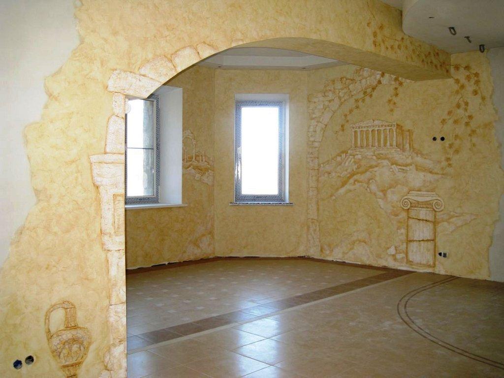 Декоративная штукатурка стен в квартире фото