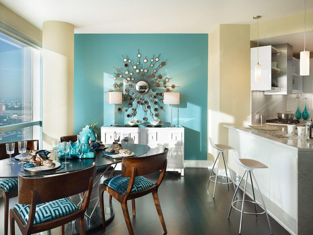 кухня два цвета зонирование