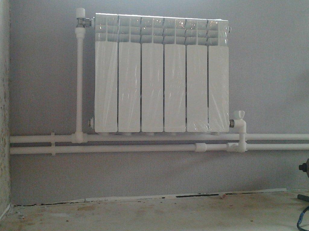 Установка отопление своими руками