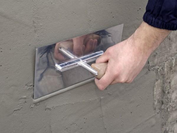 затирка стен цементным раствором