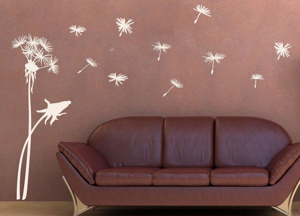 покрашенная стена с рисунком