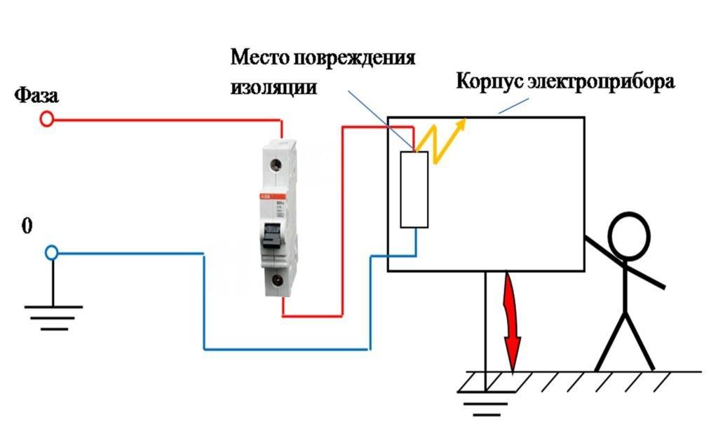 Схема с УЗО 2
