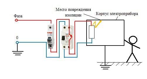 Схема с УЗО 3