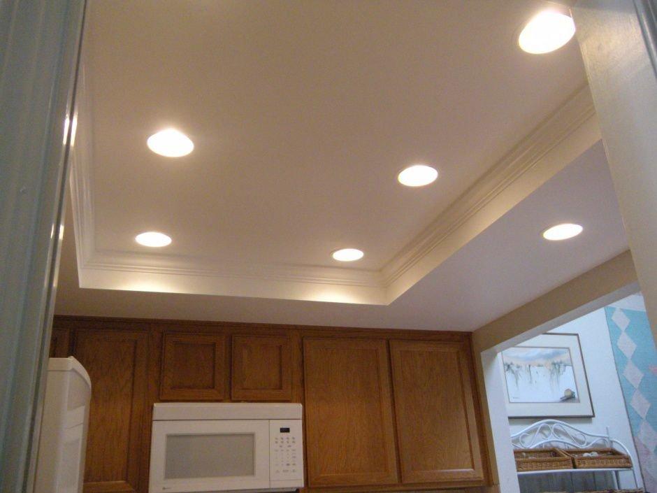 2 уровня потолок на кухне
