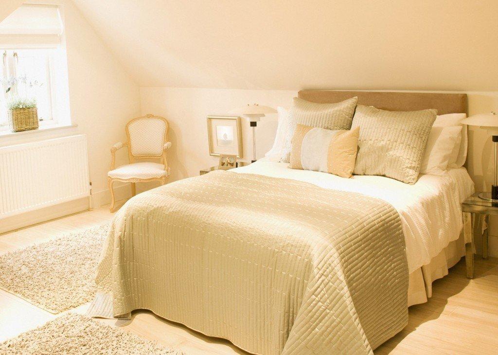 бежевый цвет обоев для спальни