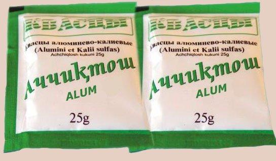 алюмо-калиевые квасцы в пакетах