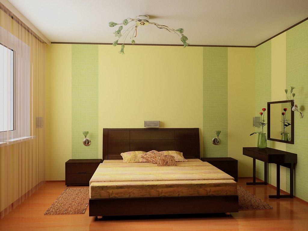 В какой цвет поклеить спальню