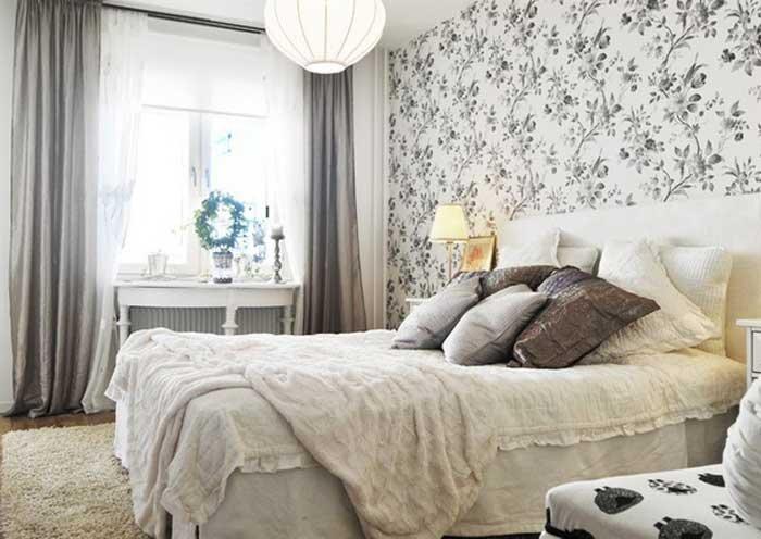 скандинавский вариант интерьера спальни