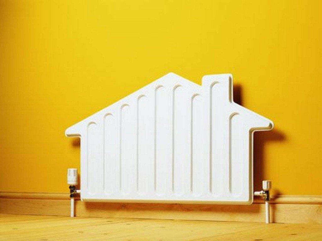 батарея отопления в виде дома