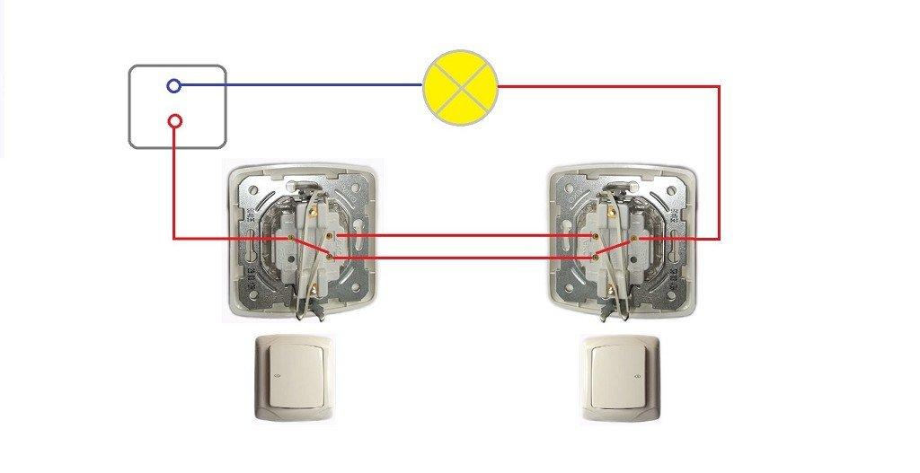 проходная схема подключения выключателя