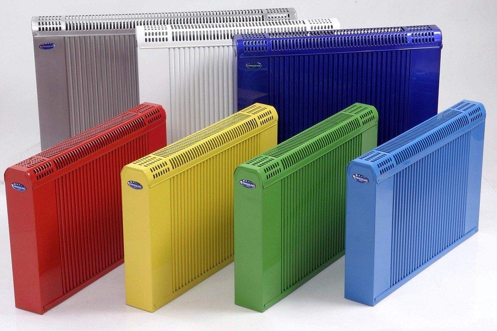 алюминиевые радиаторы разных цветов