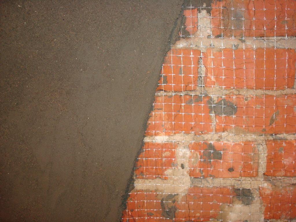 монтаж сетки из стекловолокна