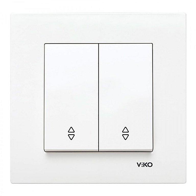 Проходной выключатель белый