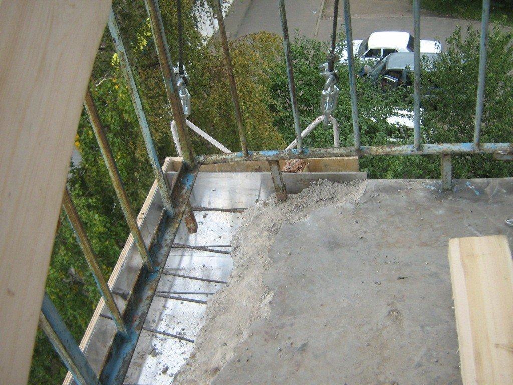 трещина в балконной плите