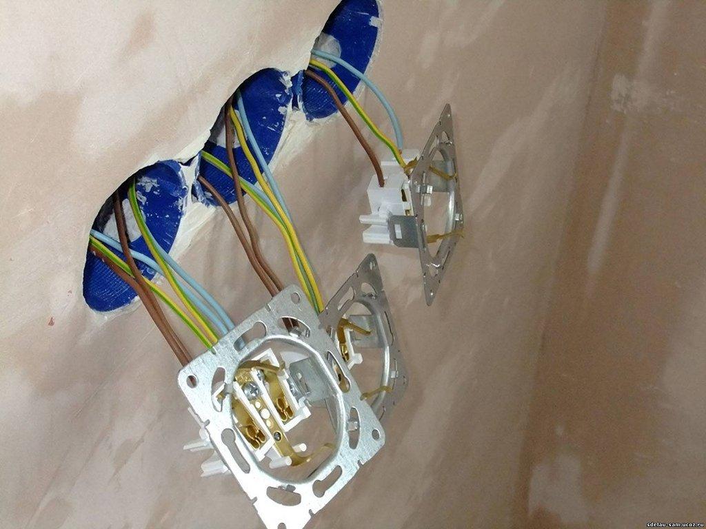 электрическая схема розетки