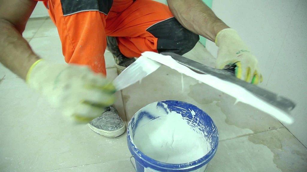 процесс приготовления смеси
