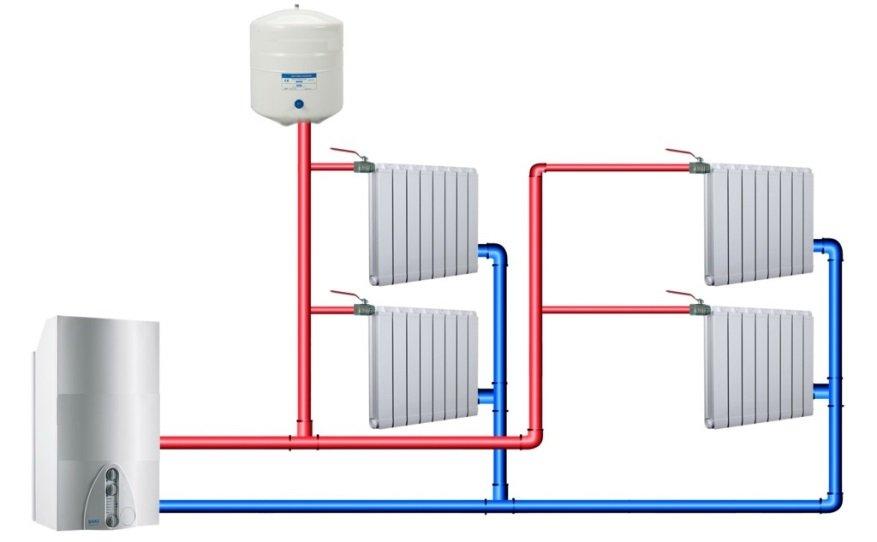 схема отопления в квартире