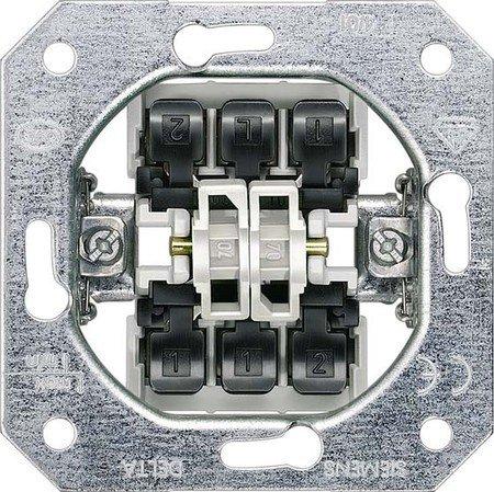 корпус двухклавишного выключателя