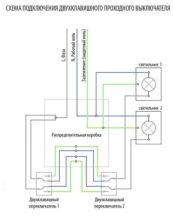 схема разводки выключателей
