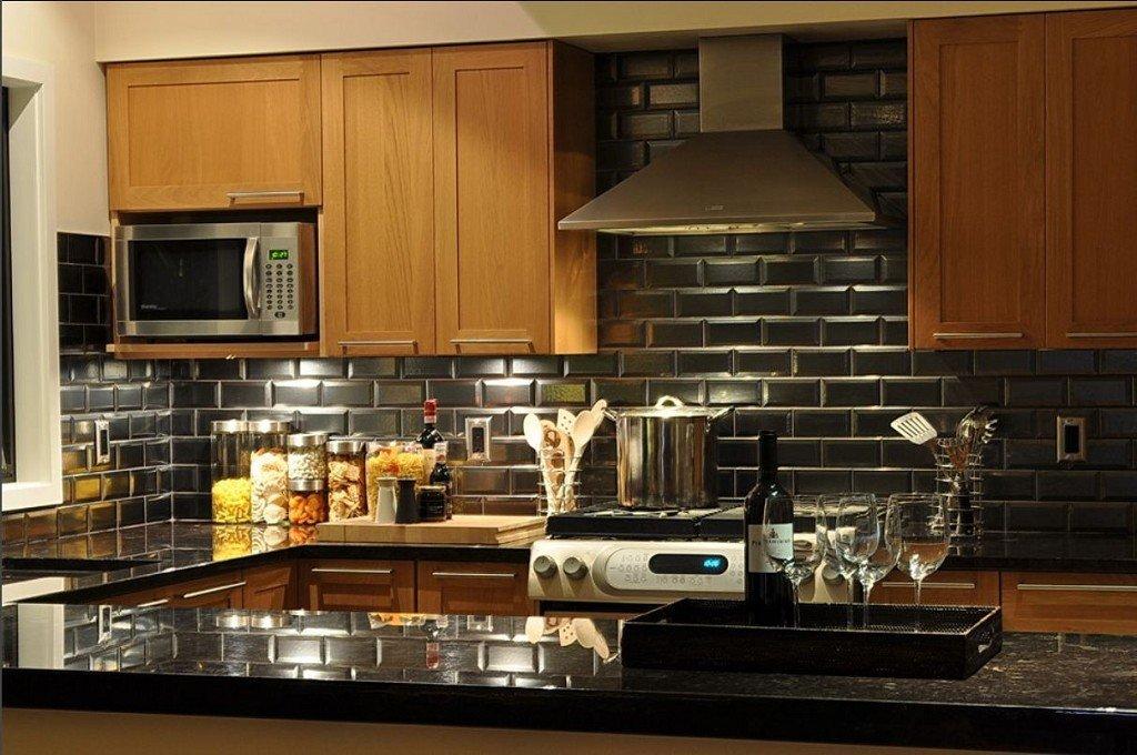 черный кафель для кухни
