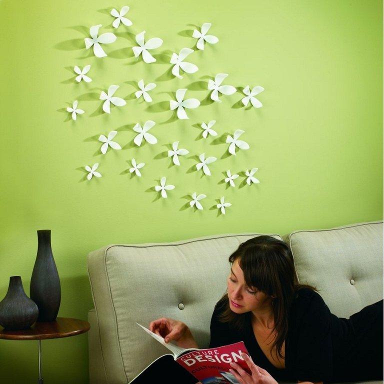 цветы для украшения стен своими руками