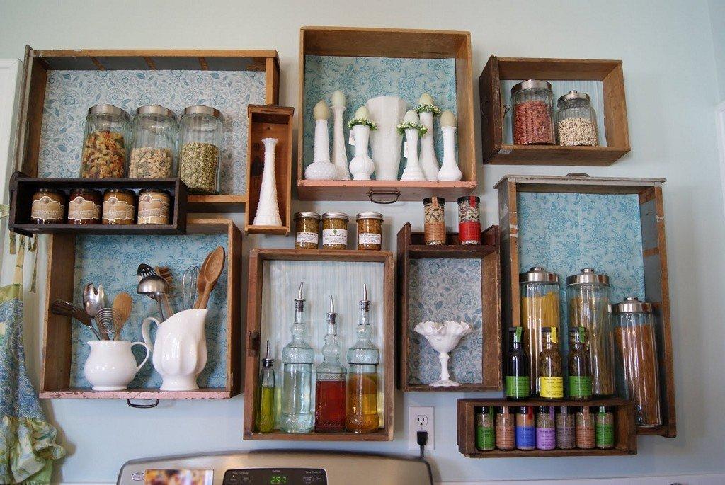 украшение стен подручными средствами