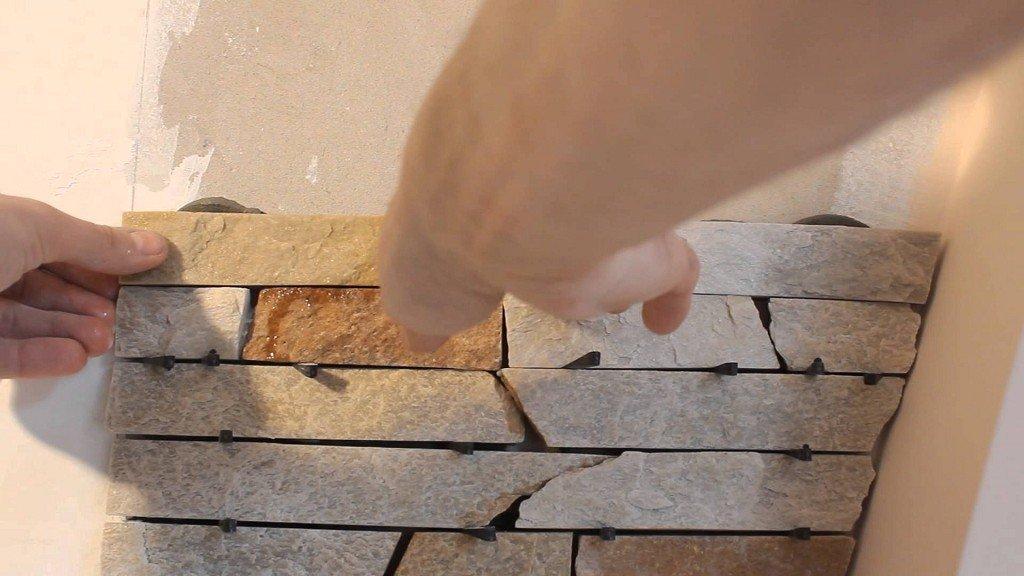 формирование швов при кладке декоративного камня