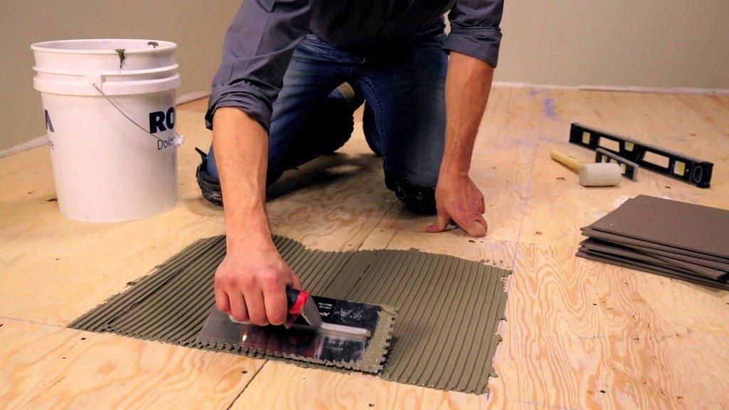 уровень шумоизоляции плитки керамогранит и ламинат если