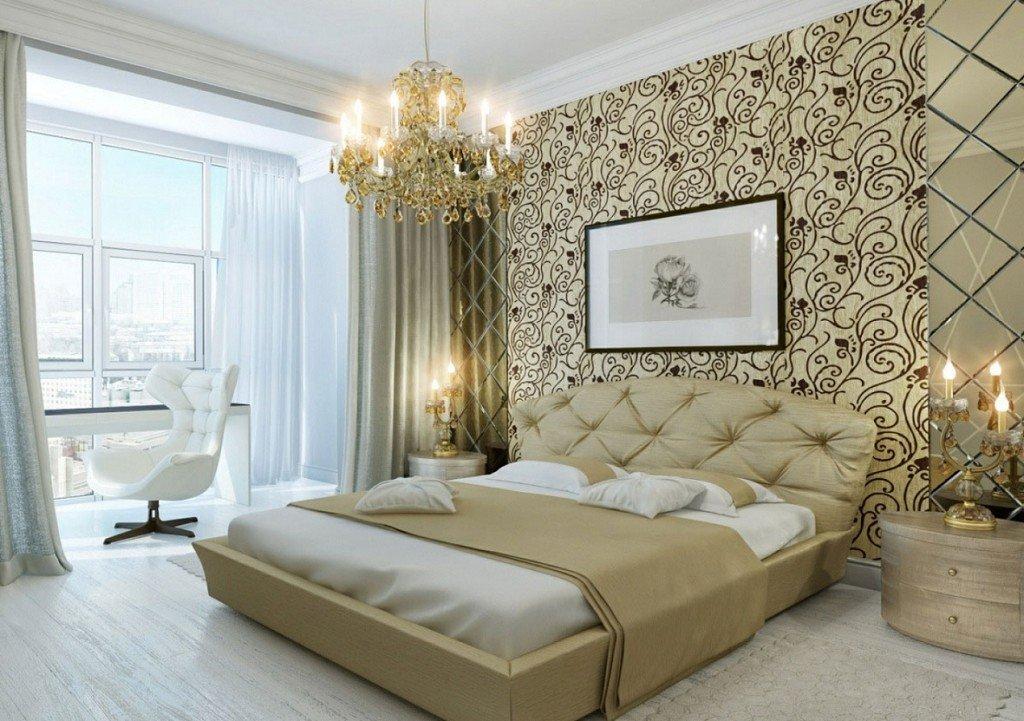 оформление разных зон в спальне