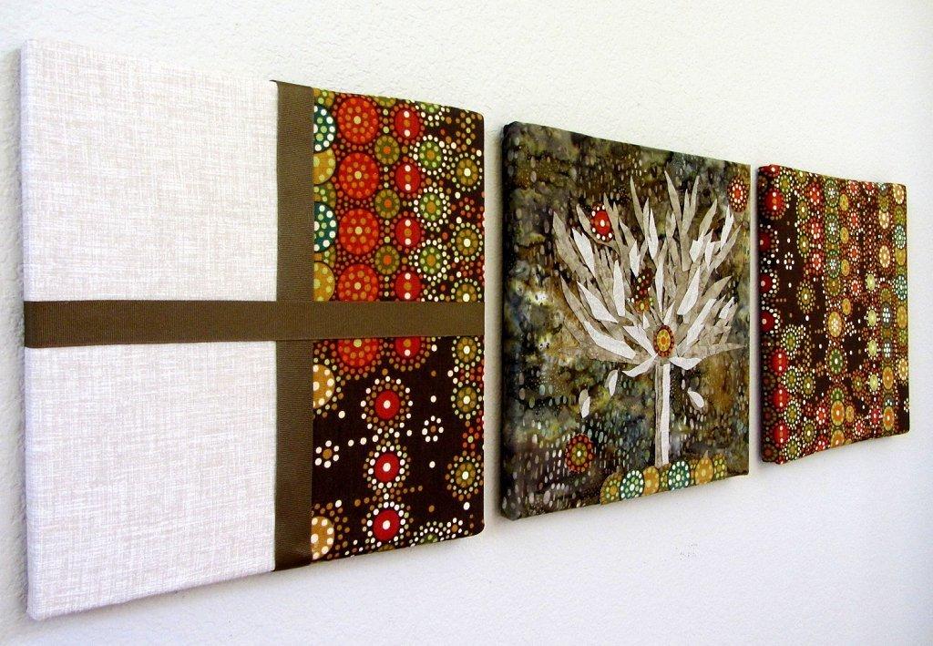 Картины из ткани для стен своими руками