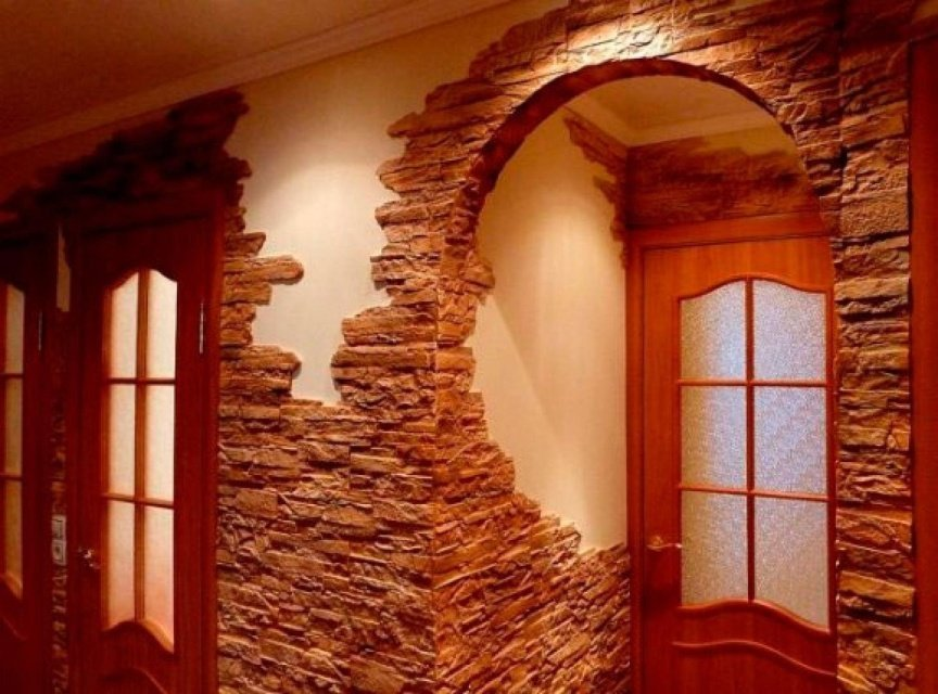 подрезка камня при облицовке арки