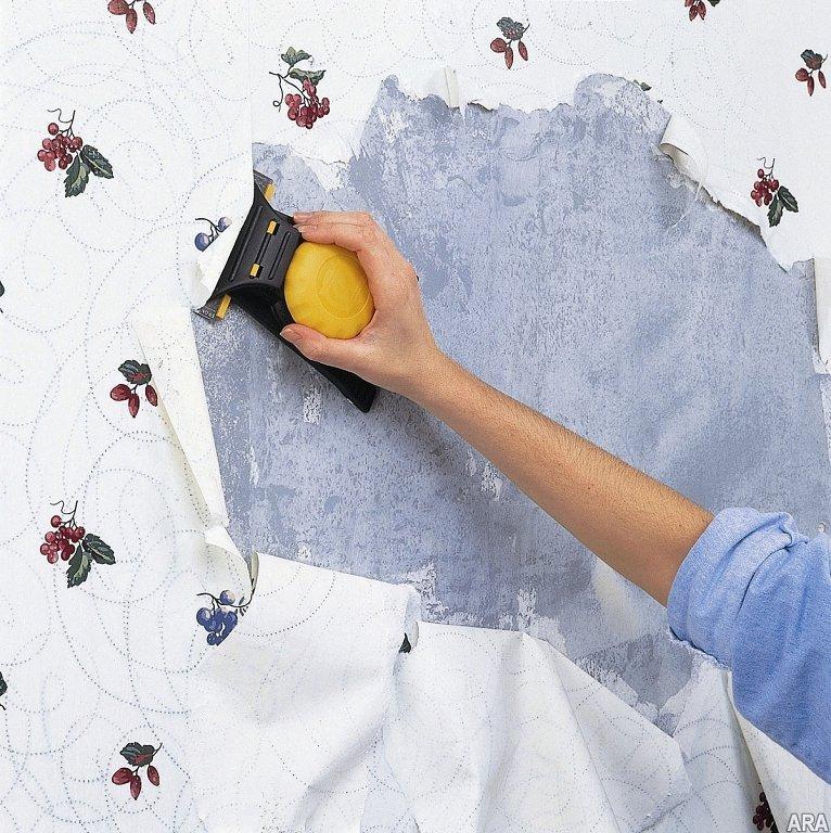 Очистка стен от старого покрытия