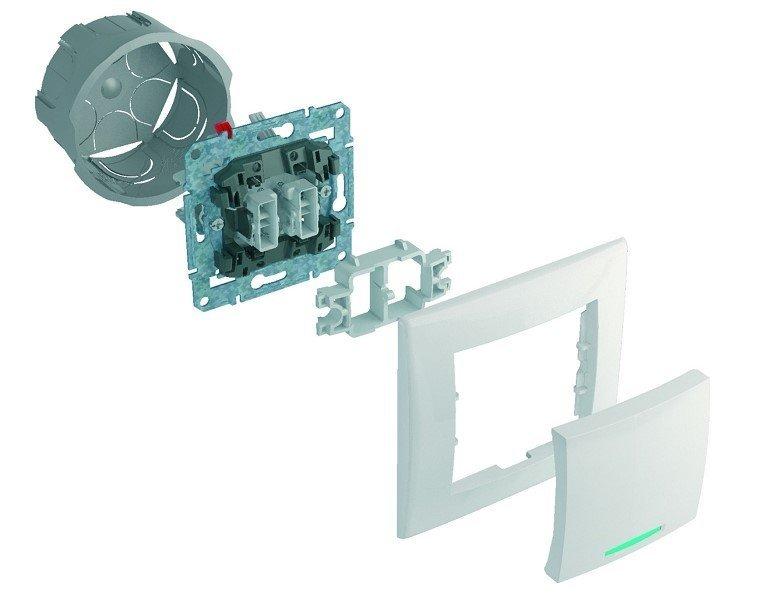 устройство двухклавишного выключателя