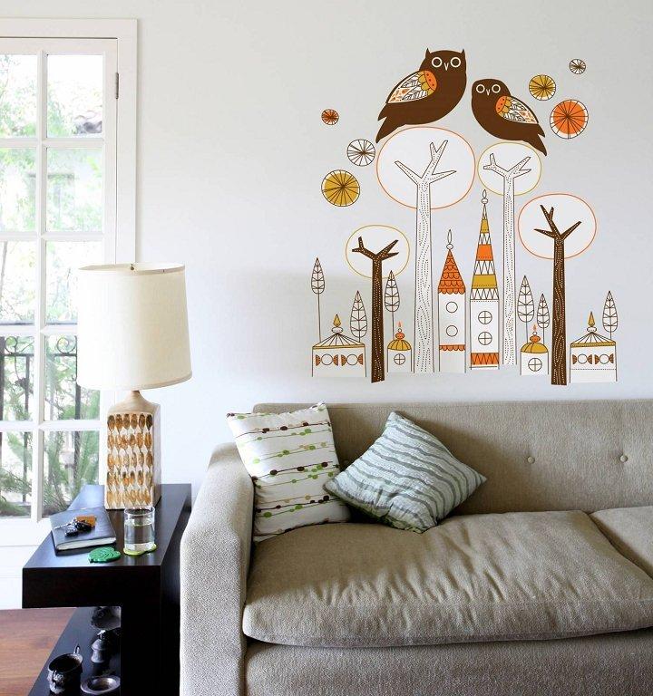 вариант декоративной отделки стен
