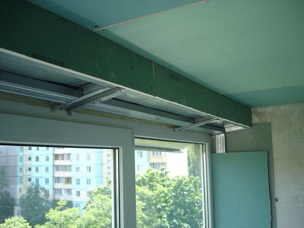 конструкции из ГКЛ на балконе