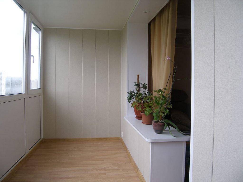 отделка лоджии, совмещенной с комнатой