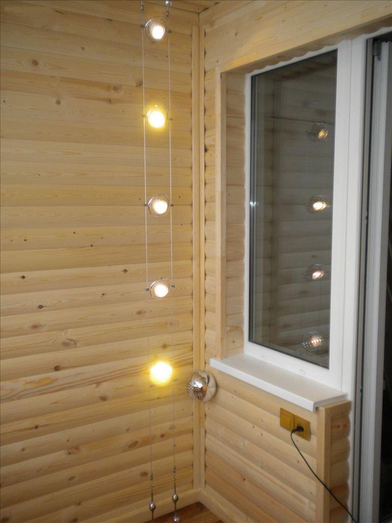 деревянные панели на лоджии