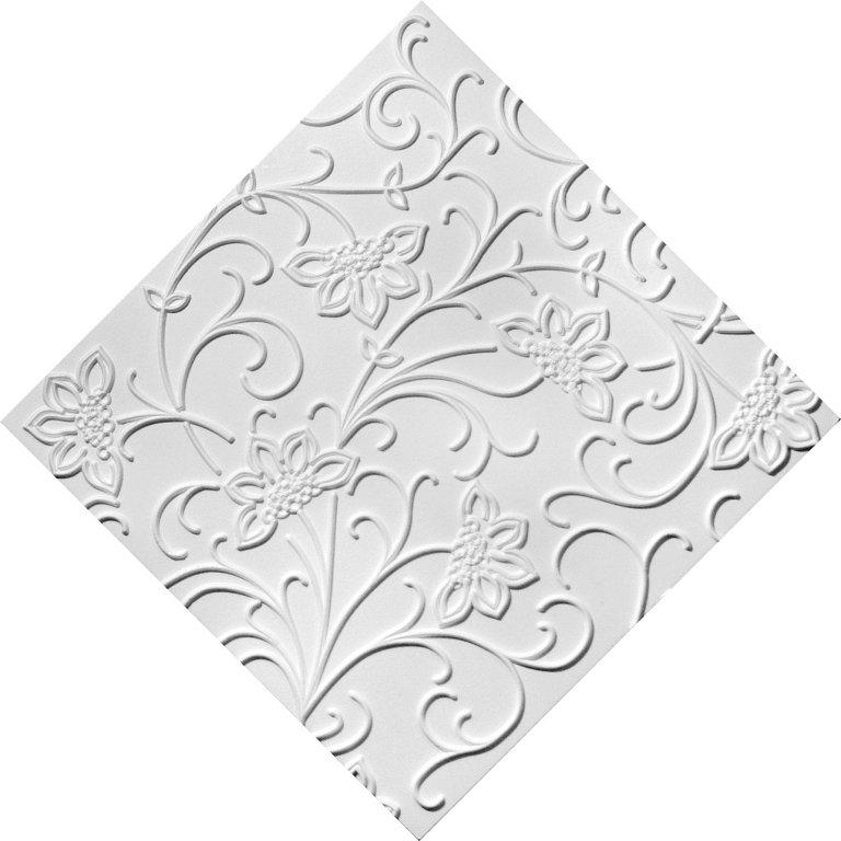 плитка потолочная с рисунком