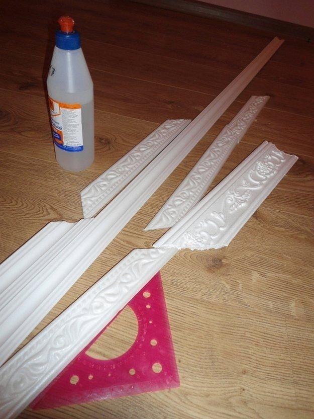 Рамки из плинтуса потолочного плинтуса
