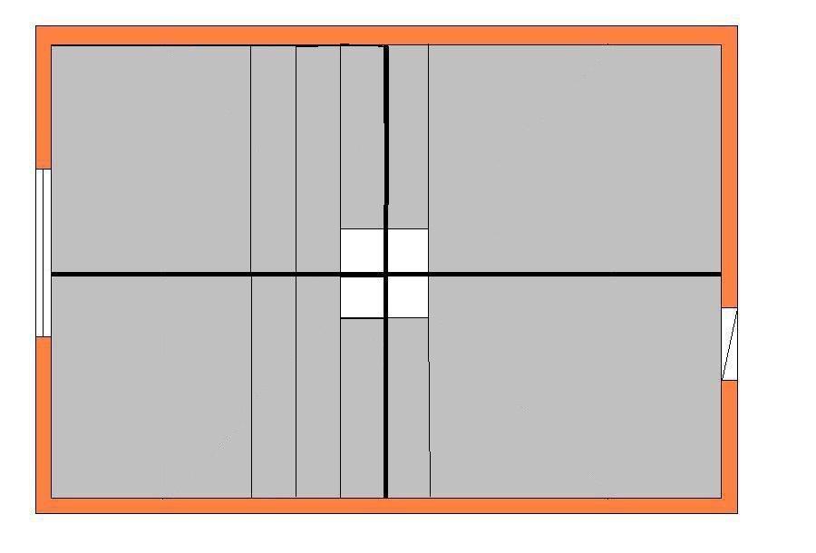 разметка потолка для параллельной укладки плитки