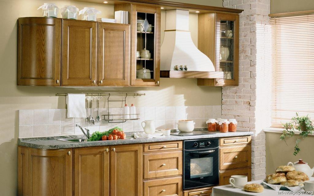 кремовый цвет стен на кухне
