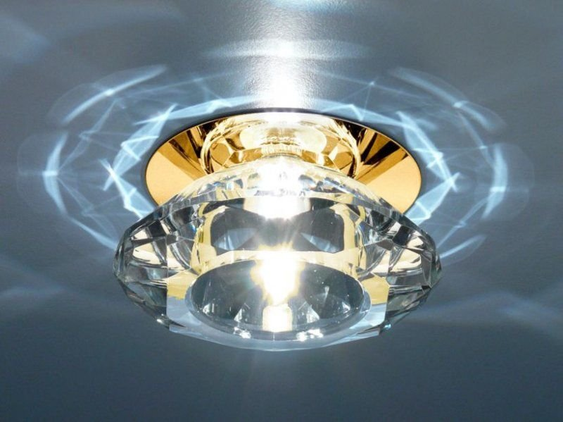 глубина встраивания светильника