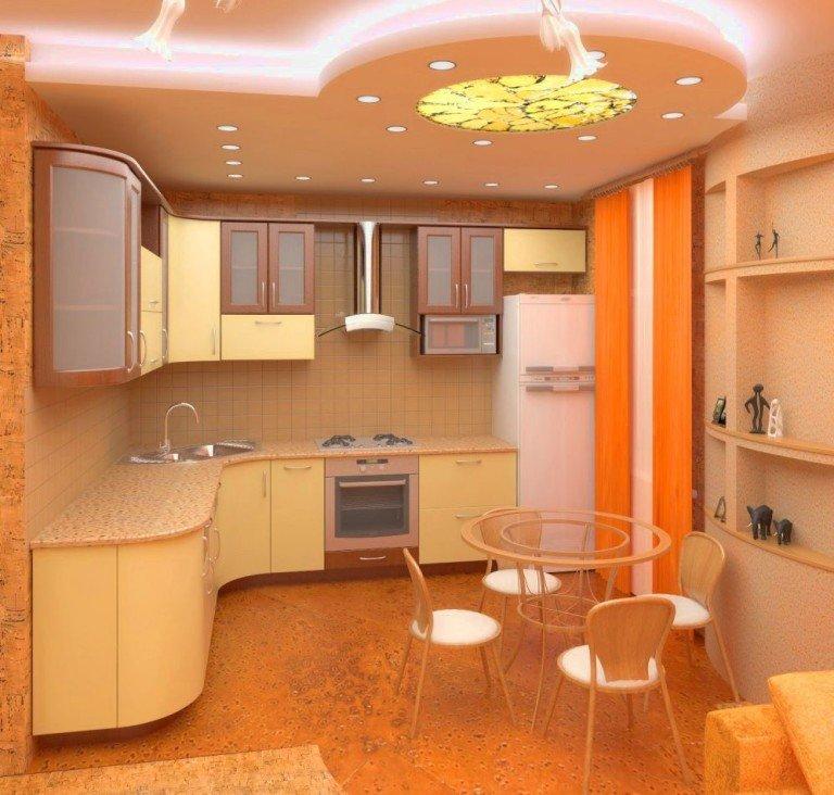 Ремонт кухни 8 квм стены и полы потолок цена