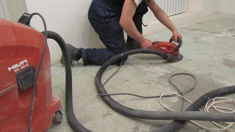 сухая шлифовка бетонного пола