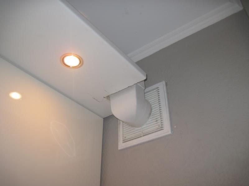 воздуховод, скрытый коробом из ПВХ