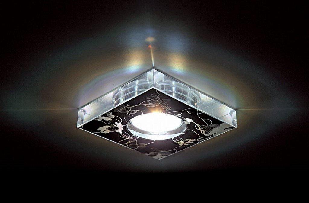 встроенный светильник для натяжного потолка