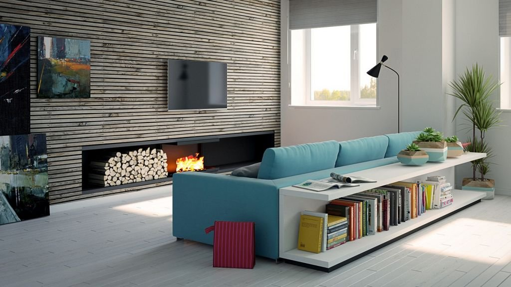 зонирование с помощью дивана